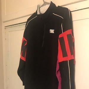 VS Pink Half zip spirit tunic sweatshirt